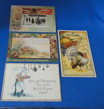 4 Postcards: - Thanksgiving - Antique Cards early 1900s