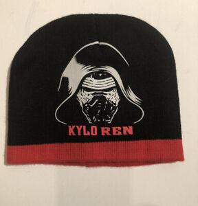 Star Wars Kylo Ren Beanie Skull Cap in Red & Black Unisex One Size