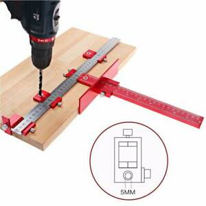 Woodworking Jig Drill Wood Dowel Guide Cabinet Handle Template Tools