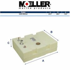 "Moeller 32512 12 Gallon Below Deck Permanent Marine Fuel Tank 24.5""X18.5""X7.25"""