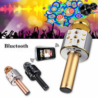 WS858 Wireless Bluetooth Karaoke Handheld Microphone KTV USB Player Speaker RU