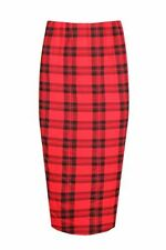 Unbranded Viscose Party Checked Skirts for Women