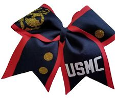 Cheer bows U.S. Marine Corps Dress Blues Hair Bow