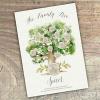 Personalised Family Tree A4 Sign,Print, Gift, Birthday, Anniversary, Wedding