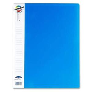A4 Display Book with 40 Pockets. Blue