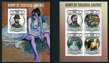 BURUNDI 2013 HENRY DE TOULOUSE LAUTREC FATHER OF POP EROTIC ART STAMP IMPERF MNH