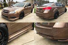 Combo!! Painted 09-12 Subaru Legacy BM9 Sedan Models Side Skirts + Rear Splitter