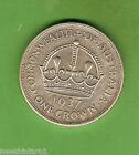 #D296. AUSTRALIAN 1937 STERLING SILVER CROWN, FIVE SHILLING COIN