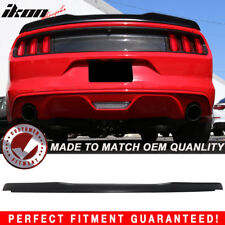 15-18 Ford Mustang Coupe H Style High Kick V Unpainted Trunk Spoiler - ABS