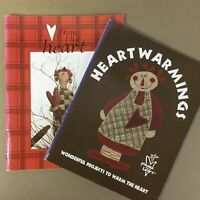 Lot of 2 Pieces of My Heart prim craft quilt needlework books Sandy Gervais