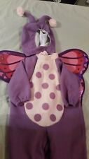 Carter's Purple Butterfly 3pc Halloween Costume Toddler Medium Wing and Antenna