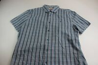 Penguin Blue Check CAMP SHIRT Large L Classic Fit