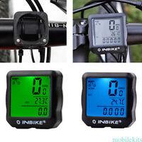 Impermeable LCD Digital Bicicleta Velocímetro Cuentakilómetros