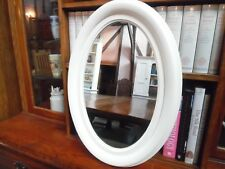 Oval Mirror in Cream - 64cm high x 45cm wide