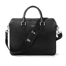 214d399fe849 Aspinal of London Leather Small Mount Street Tech Bag in Black Saffiano.