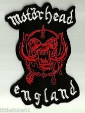 """""""MOTORHEAD - ENGLAND""""  Patch Embroidered NEW Rock Heavy Metal !!!"""