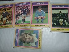 5 x IPSWICH TOWN    Topps Football Cards 1976  Blue  Backs