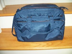 LUG Minibus Duffle NEW Pockets Dividers Zippered Compartment Dark Blue