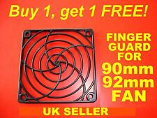 BUY 1, GET 1 FREE 90mm 92mm fan cover Finger Guard, Black ABS for Computer etc.