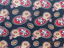 "NFL Forty Niners, Fabric Fat Quarter, 22"" x 22"""