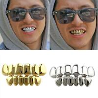 Gold Plated Grillz Caps Tooth Cap Hollow Open Face Teeth Grills Jewellery Teeth