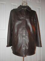 Women's CENTIGRADE Soft 100% Genuine Leather Long Jacket Coat LARGE
