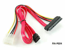 "20"" SATA 7+15-Pin Combo Power/Data Plug to SATA & 4-Pin Molex Cable, FIA-P02"