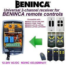 BENINCA TO.GO 2WK, LOT1,2,4W, LOT2WMS compatibile universale 2-canali ricevitore