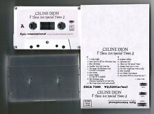CELINE DION These Are Special Times JAPAN PROMO-ONLY ADVANCED CASSETTE w/PS
