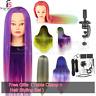 ❤UK Salon Hairdressing Colorful Hair Mannequin Doll Training Head ❤Free Hair Set