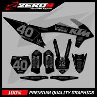 Custom MX Graphics KTM SX SXF EXC EXCF Motocross Graphics 125-500 PRO GO BLK/GRY