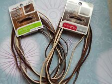 LOT 2 (12pcs) SCUNCI BEAUTIFUL BLENDS hair HEAD BANDS brown NO SLIP GRIP stretch