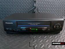 New listing Panasonic Pv-V4521 Omnivision 4 Head Hi-Fi Stereo Vcr Vhs Black 14x10x4