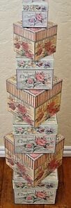 NEW Bob's Boxes (Cottage Garden) 7 Piece Gift Nesting Boxes