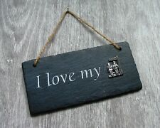 Public Footpath Slate Plaque Rustic Hanging Ornament Home Decor Valentine Gift