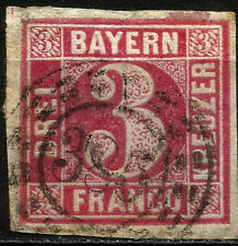 BAYERN, 3 KREUZER, YEAR 1862, MICHEL # 9, USED, (SU006)