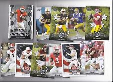 2018 LEAF DRAFT FB 100 card set (Rosen, Allen, Mayfield, Ridley, Darnold) +BONUS