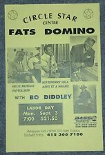 FATS DOMINO Bo Diddley Original Concert Poster California 1990