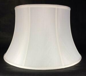 Softback Floor Lamp Shade, Shallow Drum, Off White High Quality Tissue Shantung