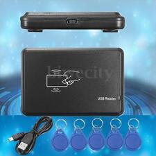 125Khz RFID ID Card Copier/ Reader/Writer Programmer + 5 Tags For EM4305 T5567