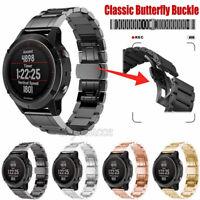 For Garmin Fenix 5 5X 5S 3 HR S60 Watch Band Strap Stainless Steel Link Bracelet