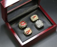 4pcs Detroit Red Wings Stanley Cup Championship Ring Display Set