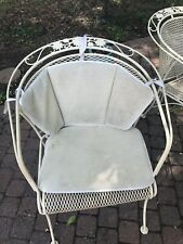 VINTAGE WOODARD Chair Cushions For WROUGHT IRON PATIO BARREL CHAIRS Set Of 6.