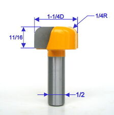 """1 pc 1/2"""" Shank 1-1/4"""" Diameter Dish, Bowl and Tray Router Bit S"""