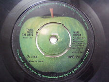 """MARY HOPKINS APPLE those were the days rare SINGLE 7"""" 45 RPM INDIA INDIAN VG+"""