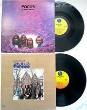 Focus MOVING WAVES + IN AND OUT OF FOCUS Sire Records 2-lp LOT kgatwl psych prog