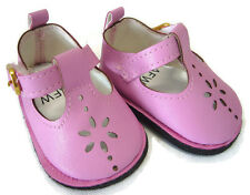 Dusty Pink T-Strap Shoes for Bitty Baby + Twins Doll Clothes Accessories