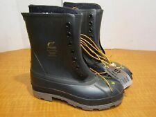 "ONGUARD 86397 Polyblend 10"" Wool Felt Insulated Boots Mens 7 Steel Toe Black NEW"