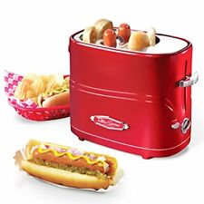 Nostalgia Retro Pop-Up Hot Dog Toaster Drip Tray For Easy Cleaning, New