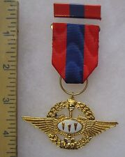 Post Ww2 Vintage Taiwan Roc China Air Force Awe Inspiring Medal Grade 1